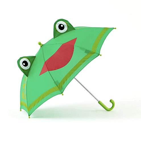 - Shed Rain Green FROG Kid Child Stick Umbrella Black w/Cat Ears No Pinch