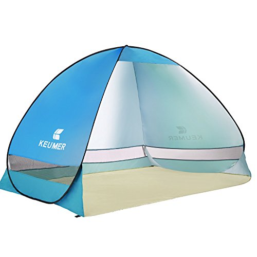Ylovetoys Outdoor Automatic Pop up Instant Beach Tent, Camping, Fishing, Hiking, Picnicking, Anti UV Shelter, Light Blue