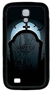 Galaxy S4 Case, Personalized Protective Soft Rubber TPU Black Edge Sample Text Case Cover for Samsung Galaxy S4 I9500