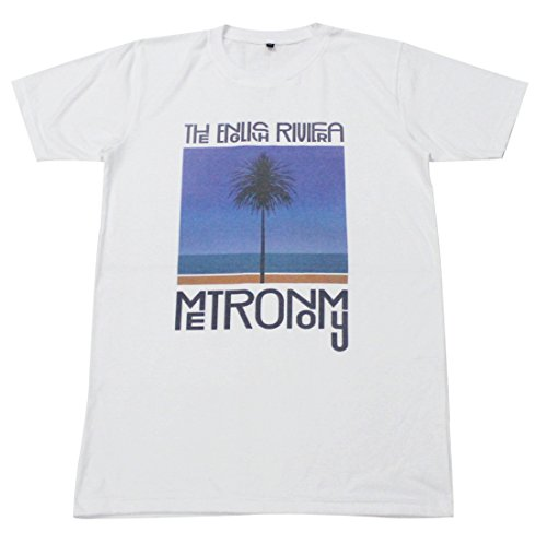 [Metronomy The English Riviera electronic party T-Shirt White / GV115 size L] (Mens Disco Jumpsuit)
