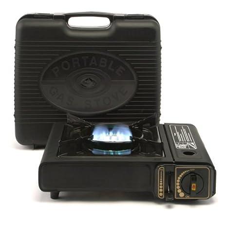 Kochmann - Cocina portátil a gas, incluye maleta y 8 cartuchos de gas: Amazon.es: Hogar