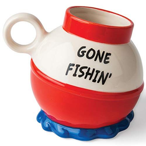 - BigMouth Inc. The Gone Fishin' Mug, Fishing Bobber Ceramic Coffee Cup, Fish Mug