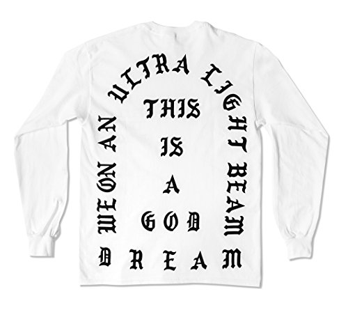 I Feel Like Pablo Long Sleeve Shirt Life Of Pablo (Large, White)