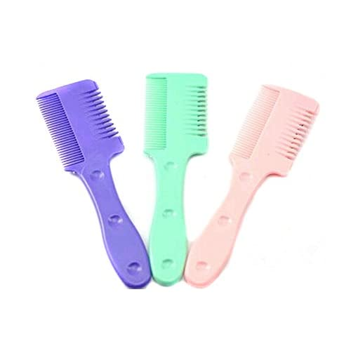 EUBUY 3 Pcs Dual Blades Hair Razor Comb Hair Cutter Thinning Trimmer Comb supplier
