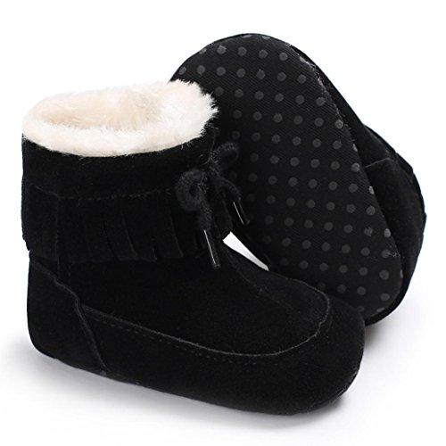 Igemy 1 Paar Baby Soft Sole Snow Stiefel Soft Crib Schuhe Kleinkind Stiefel Schwarz