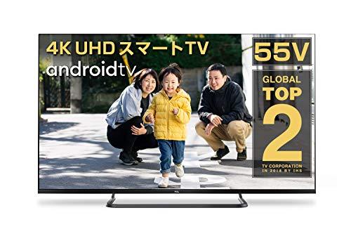 TCL 55V型 4K対応液晶テレビ スマートテレビ ウルトラハイビジョン 外付けHDD録画対応(裏番組録画対応) ダブルチューナー Dobly Audio 2019年モデル 55P8S