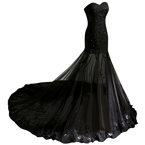 Bridal Bess Evening Dresses Sexy Long Women's Prom Sheer Lace Tulle Blue Beaded Sky dx6Crq