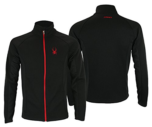 Spyder Mens Full Zip Sweater Black XL from Spyder