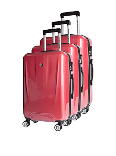 COMPAGNIE DU BAGAGE Set de 3 trolleys rígidos  Rojo