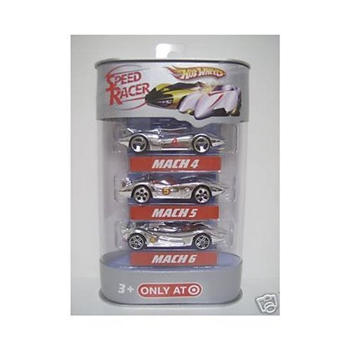 Hot Wheels Speed Racer 3-Car Pack - Mach 4/ Mach 5/ Mach 6 (Toy Mach Racers 5)