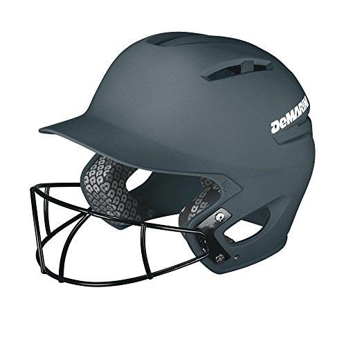 DeMarini Paradox Batting Helmet with Softball Protective Mask, Charcoal Grey, Large/X-Large