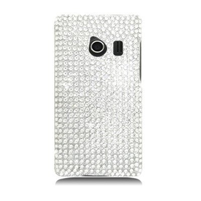 For Huawei Ascend Q/M660 FULL DIAMOND Case All Silver