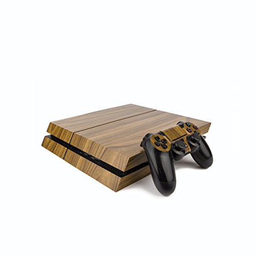 Premium PS4 PlayStation 4 Wood Effect Vinyl Wrap/Skin/Cover for PS4 Console and PS4 Controllers: Walnut (Ps4 Wood Grain Skins)