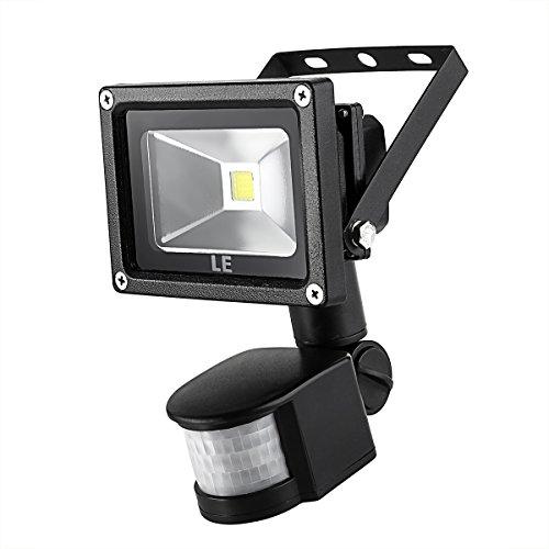 Led Flood Light With Night Sensor: LE 10W Super Bright Motion Sensor Flood Light, Outdoor LED