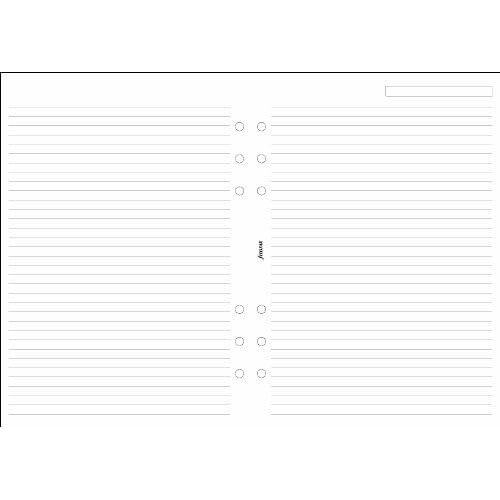 Filofax 343008 Feuilles lignées blanches Format A5
