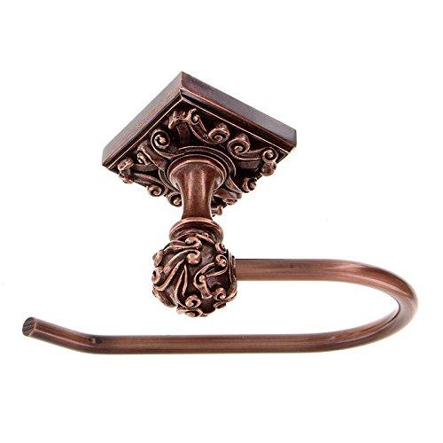(Vicenza Designs TP9001 Sforza French Toilet Paper Holder, Antique Copper)