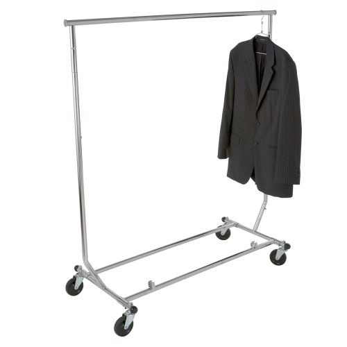 Chrome Round Tubing - Heavy Duty Salesman's Rack - Collapsible Garment Rack - Round Tubing /Chrome
