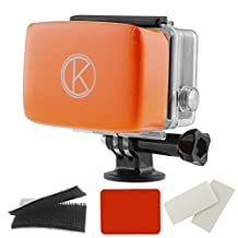 CamKix Floater for GoPro Hero - Removable Float for GoPro Housing Backdoor - Includes Waterproof Adhesive, High Quality Waterproof Velcro, 1 Pair of Anti-Fog Inserts - Compatible with GoPro Hero 4, 3+, 3, 2, 1(Orange)