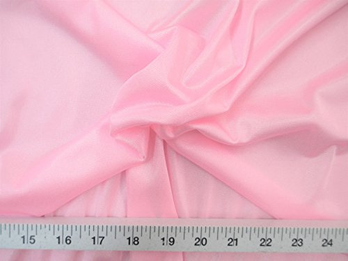 Yard Fabric Nylon 40 Denier Tricot Stretch Light Pink 108 inch Wide TR16