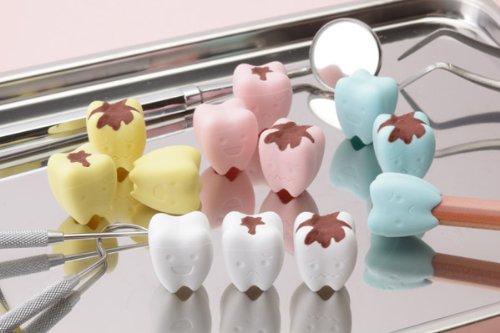 Tooth Erasers (Iwako Pencil Top Erasers /Teeth - Cavity 12pcs. (4 colors))