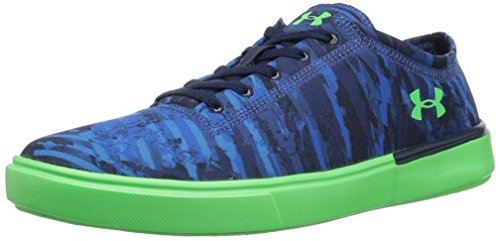 Under Armour Grade School KickIt2 VG Sneaker, Moroccan Blue (401)/Arena Green, 4
