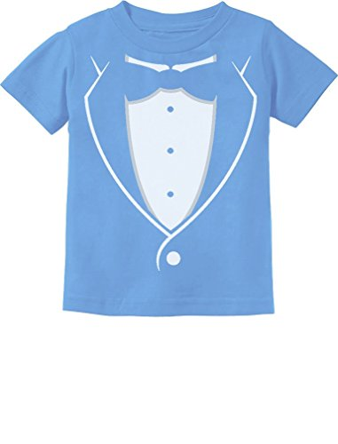 Printed Tuxedo with Bow-tie Suit Funny Gift for Boys Toddler/Infant Kids T-Shirt 4T California Blue