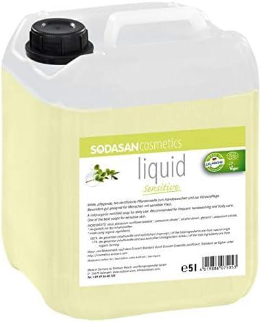 sodasan Liquid Sensitive bio Jabón 5 litros Bidón – Ecológico y ...