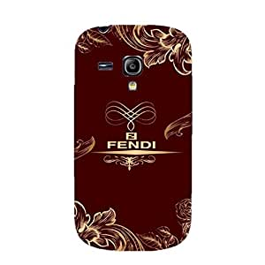 Fendi Logo Phone Case Classical Customized 3D Protective Case Snap on Samsung Galaxy S3 Mini Fendi Series