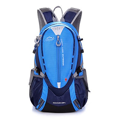 ZHUDJ 25 L Zaino Alpinismo Caccia Sport Per Il Tempo Libero Escursioni In Bicicletta/Bike School Camping & Escursioni Travelingwaterproof Rain-Proof Waterproof Zipper,Blu