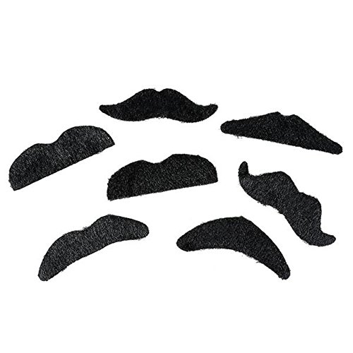 Self Adhesive Mustaches Set Halloween
