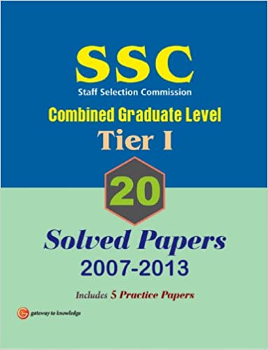 Book Ssc Combined Graduate Level 20 - Solved Papers Tier - 1: 2007 - 2013