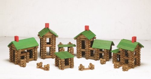 Timbers Tumble Piece Tree - Tumble Tree Timbers Wood Building Set - 450 Pieces. Build Log Cabins. Educational STEM Toy
