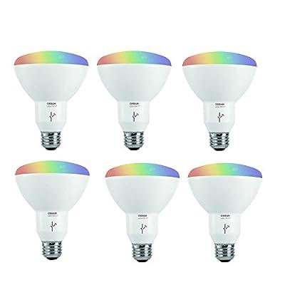 Sylvania Osram Lightify Smart Home 65W BR30 White/Color LED Light Bulb (6 Pack)