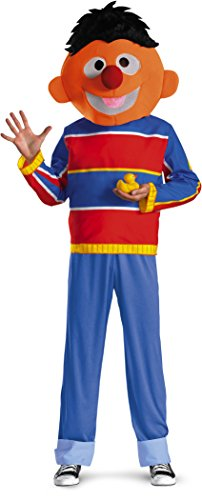 (Disguise Men's Sesame Street Ernie Costume, Red/Blue/Tan/Black, Medium)