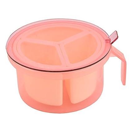 eDealMax plástico Inicio 3 ranuras condimentos Especias una salsa de condimento envase de la caja Caja