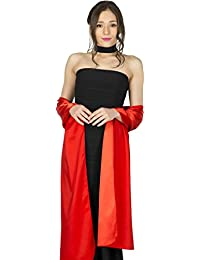 BlackButterfly Satin Shawl Wrap (Red)