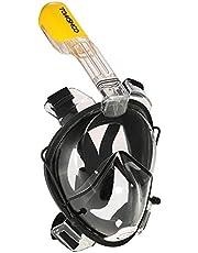 TOMSHOO Máscara de Snorkel 180 ° Panorámico de Cara Completa Anti-vaho Anti-filtración con Cámara de Montaje para Adultos Adolescentes Tamaño Universal