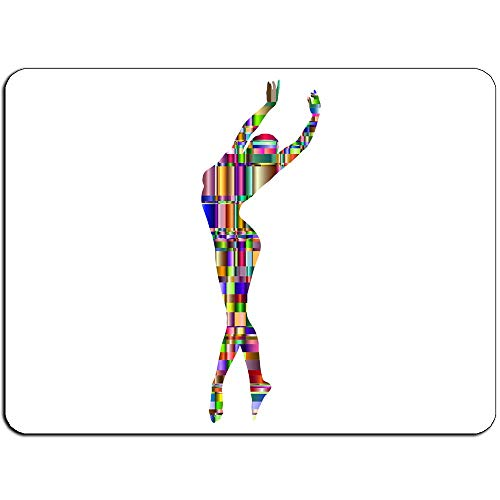Prismatic Dancer Background Gaming Mouse Pad Oblong Shaped Mouse Mat Natural Eco Rubber Durable Computer Accessories Mouse Pads Support Wired Wireless or Bluetooth Mouse