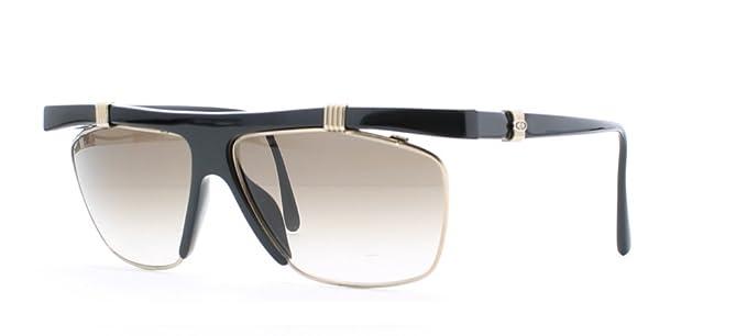 ac9d7d8a5b1e7 Christian Dior 2555 Sqr 90 Black Certified Vintage Rectangular Sunglasses  For Womens  Amazon.co.uk  Clothing