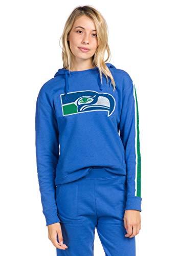 Junk Food Blue Seattle Seahawks Women's Fleece Hoodie Large