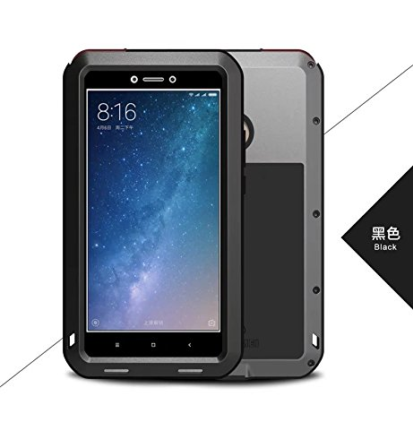 finest selection 5ed52 be12e Xiaomi Mi Max 2 Mental Case,QKKE Water Resistant Shockproof Aluminum Metal  [Outter] Super Anti Shake Silicone [Inner] Fully Body Protection for Xiaomi  ...
