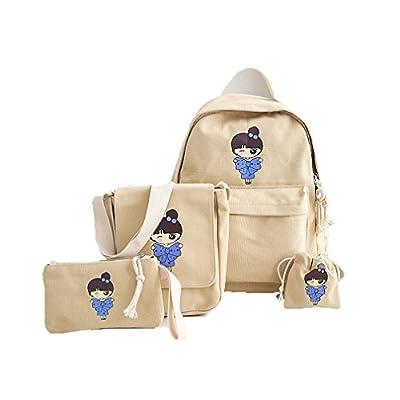 ba7fa6fddb 80%OFF Womens Canvas Backpacks Canvas Backpacks For Teenage Girls Rucksack  Cute Girls Printing Backpack
