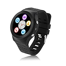 Sudroid ZGPAX Android V5.1 Smart Heart Rate Sports Phone Watch (Black)