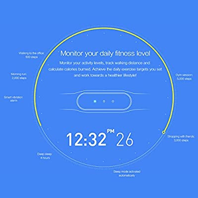 Xiaomi Mi Band Smart Wristband Bracelet Fitness Wearable Tracker Waterproof IP67 MiBand Smartband for IOS 7.0 Android 4.4