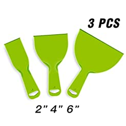URTOYPIA Plastic Putty Knife Set Green F...