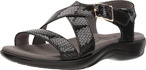 SAS Women's Laguna Weave Nero 7 M (M) (B) - Leather Footwear Nero