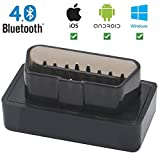 Giveet Car Bluetooth 4.0 OBD2 Scanner - Wireless Mini OBD 2 Scan Tool Interface Scanner-OBDII Car Code Reader Check Engine Light Diagnostic Tool for iPhone IOS Android & Windows Devices