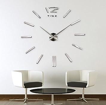 Walplus Heim Innen Kunst Spiegel Dekoration Wohnzimmer Arabisch Englisch  Nummern Wanduhr, Silber