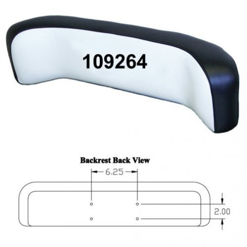 Backrest Curved Vinyl White/Black Oliver 1755 1850 1650 1555 1655 2150 1955 1355 1855 1750 1950 1550 2050 2255 White 2-70 2-110 2-62 2-150 2-85 2-105 2-78 2-135 2-88 Minneapolis Moline G1355 G955 by All States Ag Parts