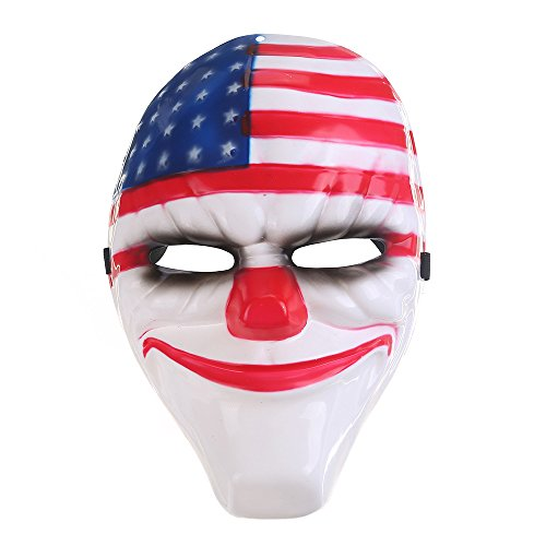 Spring fever Deluxe Fashion Cosplay Disgusting Face PVC Mask Halloween Masquerade party Accessory USA Flag Mask One (Usa Cheerleader Costume Australia)